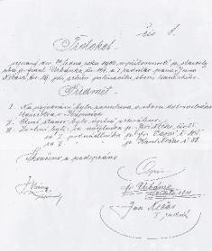 Faksimile zakládacího protokolu